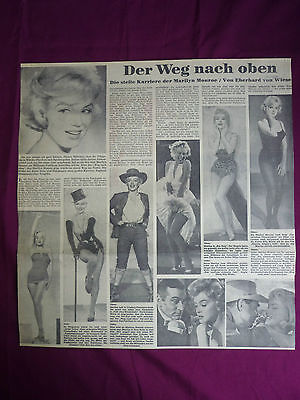 MARILYN MONROE  HAMBURGER ABENDBLATT  7.August 1962 CLIPPING