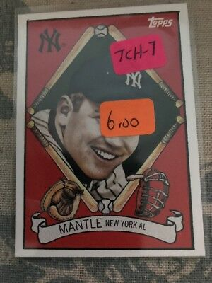 2008 (YANKEES) Topps Chrome Trading Card History #TCH 7 Mickey Mantle