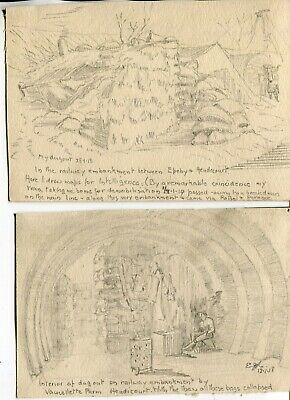 Collection of Great War veteran hand drawn and inscribed drawings - UACC DEALER