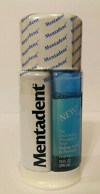 Mentadent Dual Action Mouthwash Baking Soda & Peroxide 10 oz Fresh Mint Sealed