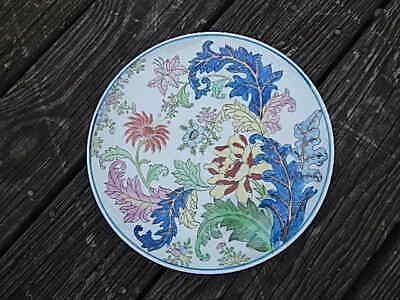 Vintage Hand Painted With Gold Leaf Chinese Plate Nice Condition Internatnl Sale