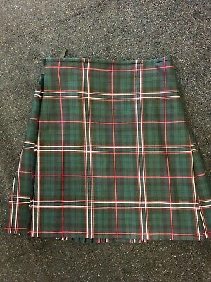 "EX-HIRE SCOTTISH NATIONAL TARTAN Kilt Size 32"" Waist 23"" Drop GREAT CONDITION"