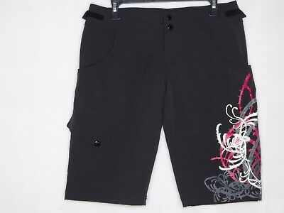 The North Face Nero Rosa S Donna Pantaloni Lunghi Stampa Floreale Sport Shorts