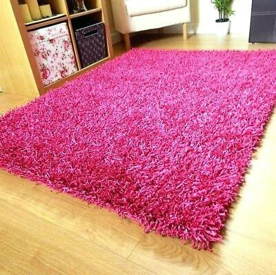 SMALL X EXTRA LARGE SOFT THICK MODERN 5cm HIGH PILE PLAIN NON-SHED SHAGGY RUGS