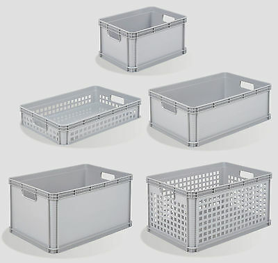 Heavy Duty Plastic Stacking Industrial Euro Storage Containers Boxes Crates
