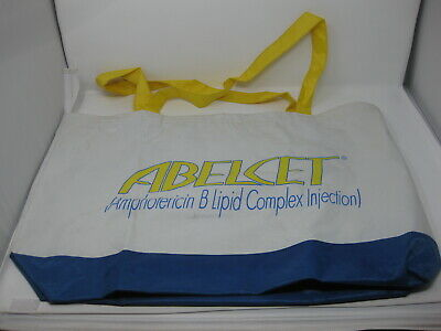Abelcet Medicine Bag Pharmaceutical Advertising Drug Rep Bag Tote Zipper
