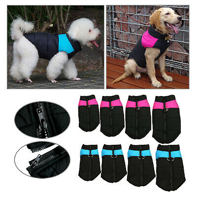 Waterproof Pet Dog Clothes Winter Warm Padded Thick Coat Pet Vest Jacket