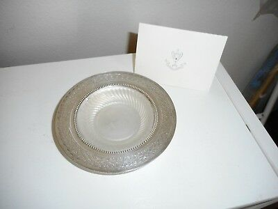 Antique Butter Dish English Silver Plate  & Glass Liner Numbered with COA