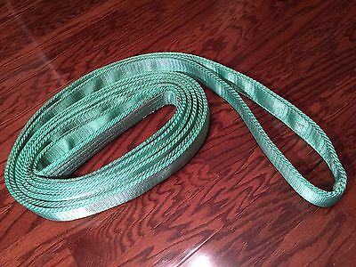 "Endless Round Sling, Green Synthetic Rigging Crane Lifting Belt  ENR 2"" X 25'"