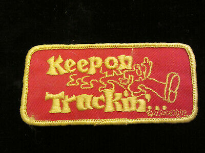 KEEP ON TRUCKIN'   ROBERT CRUMB vintage 70s SEW ON PATCH  NOS