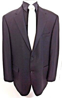 GIANFRANCO RUFFINI ITALY MEN'S CAREER BLAZER JACKET SPORT COAT Black Size L-44