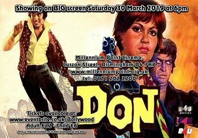 Bollywood Classics BIG Screen DON - Saturday 30th March 6pm