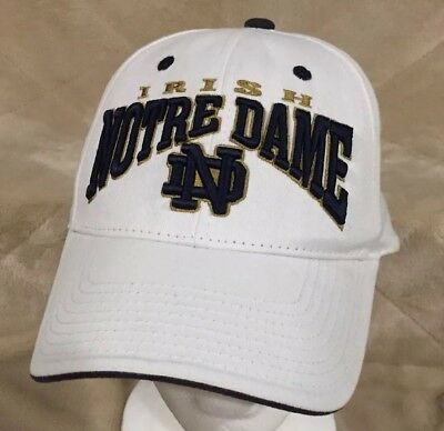 2db2633d5a4930 Notre Dame Fighting Irish White Top of the World Adult Snapback Hat Cap NCAA