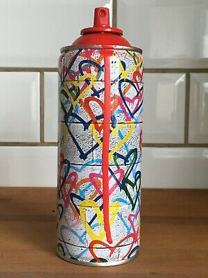 Mr Brainwash Spray Can Red Hearts,hand signed