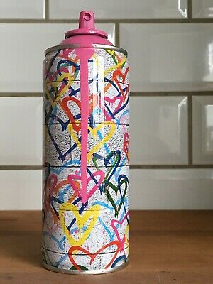 Mr Brainwash Hearts Spray Can Pink