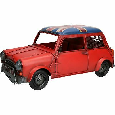 Classic Mini Style Car Metal Ornament Model Statue Money Coin Box Bank Auto