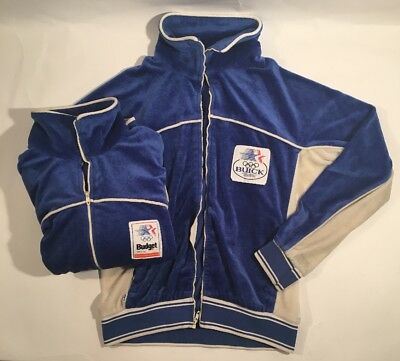 Lot of 2 Vintage Levis White Tab USA Olympics 1984 Velour Track Jackets Small