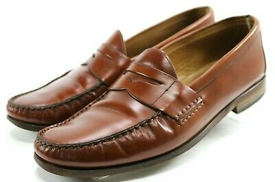31bbea0b1f6 Jack Erwin Men s  120 Penny Loafers Dress Shoes Size 9.5 Leather Brown
