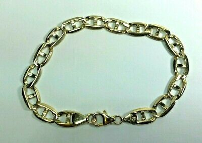 2c66d06001d 14k Solid Yellow Gold Gucci Anchor Mariner Link Chain Bracelet 9 Inches  17.1 gr