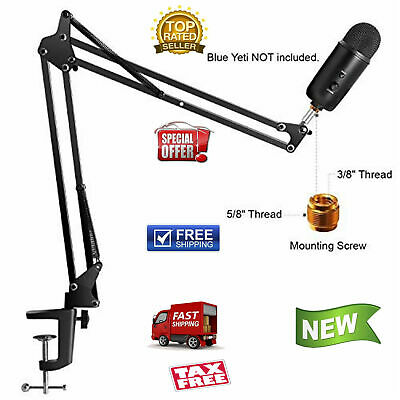 Microphone Arm Stand Blue Yeti Snowball Microphone Suspension Boom Adjustable