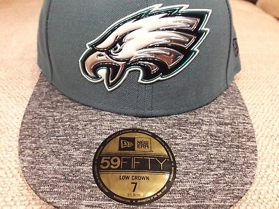 4e64bf085c431f Philadelphia Eagles Chrome New Era NFL Fitted Hat Low Crown 59 Fifty size 7  cap