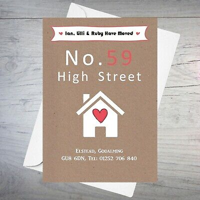 Personalised handmade Change of Address New Home House Moving Cards AC85