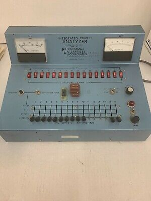 Vintage Integrated Circuit Analyzer ICA-1020-I mfg by Performance Enterprises In