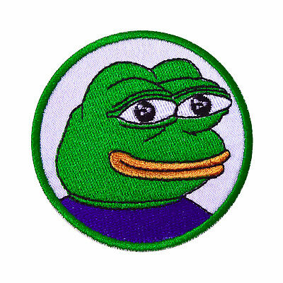 Angry Pepe Frog Iron On Meme Emoji Iron On Embroidered Patch 995