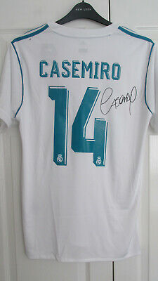 Fußball-Trikots CASEMIRO signed boots Real madrid player issue match worn shirt Brasil Brazil