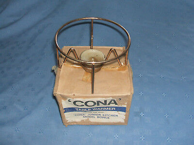 vintage cona junior coffee maker copper coloured candle warmer stand