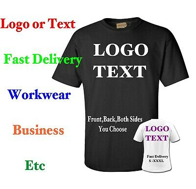Custom Printed T shirts Personalised S-XXX:L Text Logo Business Workwear Event