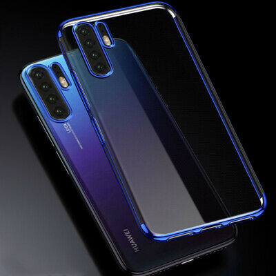 For Huawei P30 Pro P30 Lite Case Soft Plating Rubber Shockproof Clear Slim Cover
