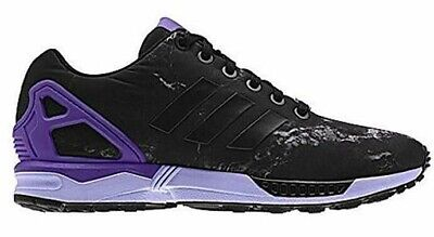 sports shoes 9c8e8 4121c ADIDAS MENS YOUTH ZX Flux shoes sneakers black purple US 5.5M New