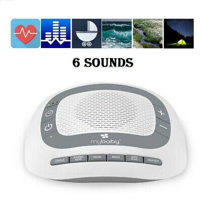 White Noise Sleep Sound Machine for Baby 6 Sleeping Sounds - Battery or Adapter