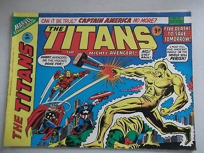 Marvel Comics The Titans  Staring  The Mighty Avengers - No 57 Nov 17 1976