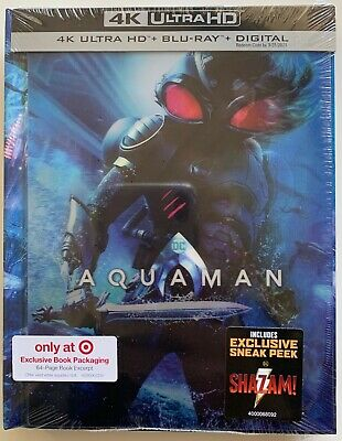 New Aquaman 4K Ultra Hd Blu Ray 2 Disc Set Target Exclusive Lenticular Digibook
