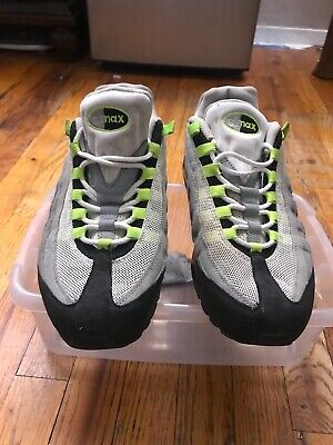 quality design 85988 60fba 609048-072 nike air max 95 cool grey neon green Sz 9 Gently worn condition