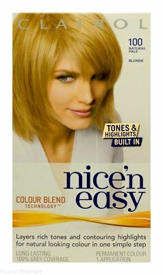 Clairol Nice 'n Easy Natural Pale Blonde 100 Hair Colour Fast Delivery