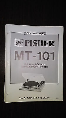 Fisher mt-101 Service Manual original repair book stereo turntable record player
