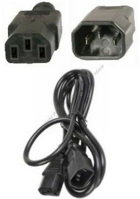 Lot100 2ft short Male~Female PC Power Extension Cord//Cable//Wire IEC320 C13~C14