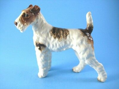 Vintage Wire Fox Terrier Dog Figurine 5 by 5.5 Inches Nicely Detailed