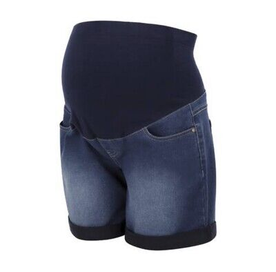 Maternity Denim Shorts Size 12 Over The Bump