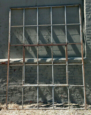 Reclaimed Vintage Industrial Factory Steel Casement Window HUGE!