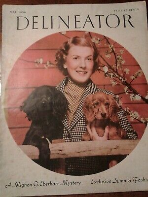May 1936 Original Vintage Butterick Delineator Patterns & Womens Magazine