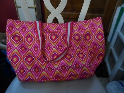 49d032582867 Vera Bradley lighten up large Family Tote in pink and orange Clementine