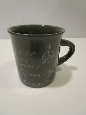 73a452a70e1 Fishs Eddy Andrew Marcus Mug, Gray w Mathematical Calculations Design