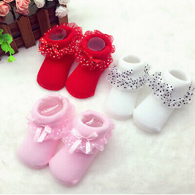 Girls Socks Cute Baby Kids Princess Breathable Soft Cotton Children Lace Toddler