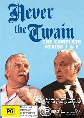 Never The Twain : Series 1 & 2 (DVD, 2-Disc Set) BRAND NEW SEALED