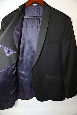 400a01e8fb014c #246 Ted Baker 'Josh' Shawl Collar Black Tuxedo Blazer Jacket Size ...