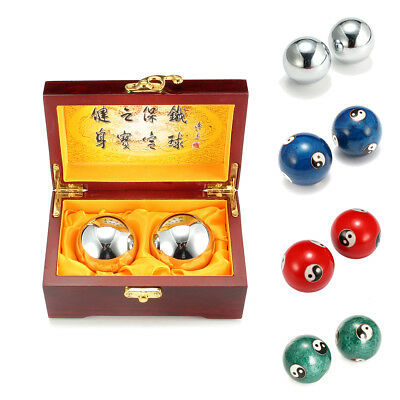 7 Types Chinese Health Exercise Stress Relaxation Therapy Baoding Balls Yin Yang